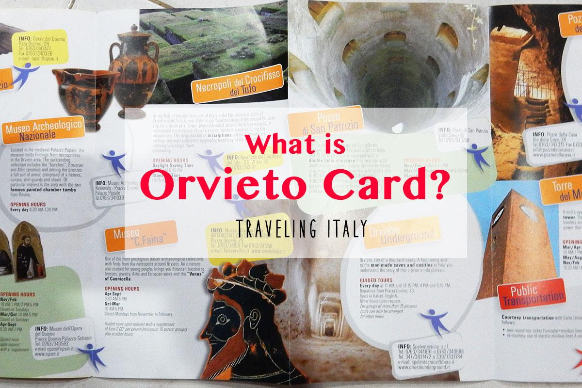 美しい丘の街オルヴィエートを300%楽しめる「Orvieto Card」の使い方