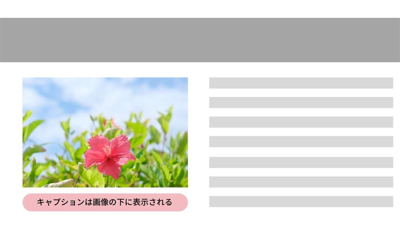 WordPressの画像のキャプション