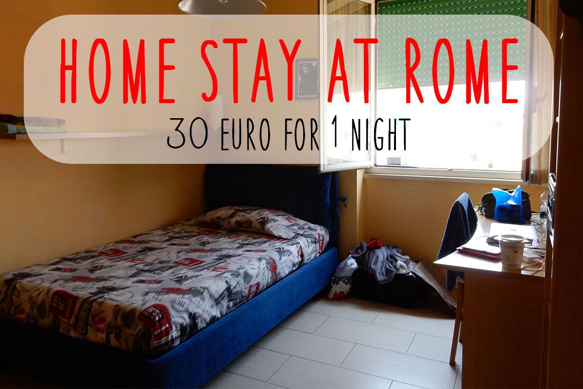ローマ1泊30ユーロのホームステイ 「ベアトリスの家」を紹介するよ