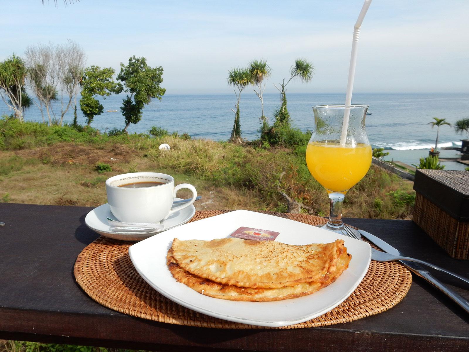 チュニガン島ホテルの朝食