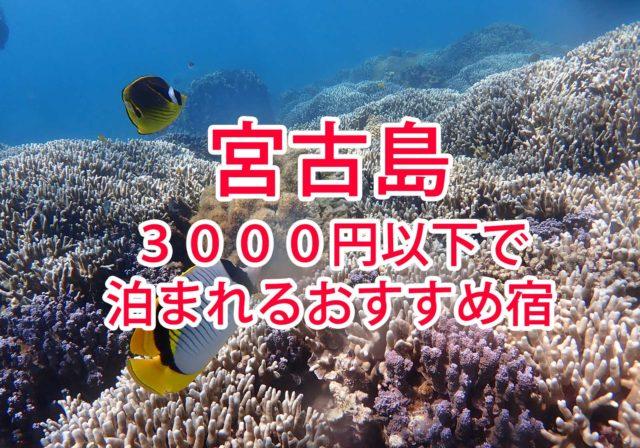 宮古島に17日間ひとり旅☺️ お世話になった2000円代のおすすめ宿を4つ紹介するよ