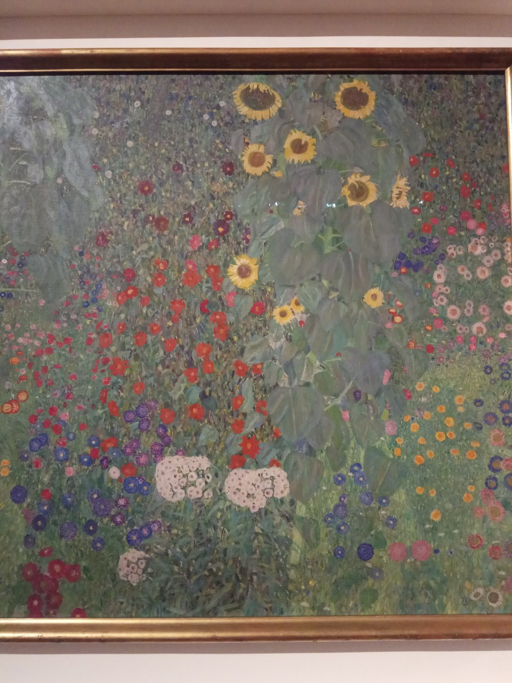 Gustav Klimt|Cottage Garden with Sunflowers