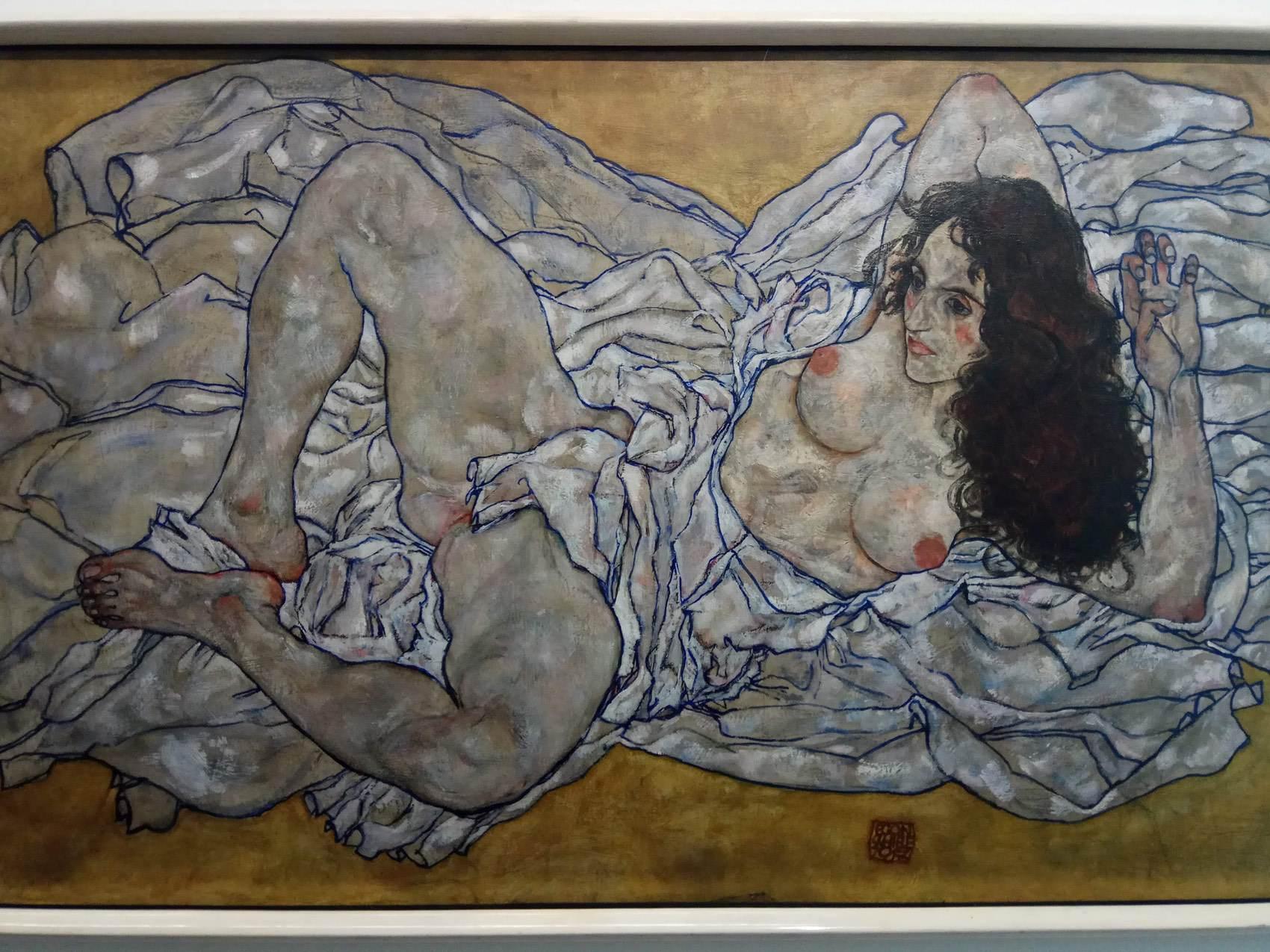 Egon Schiele|Reclining women
