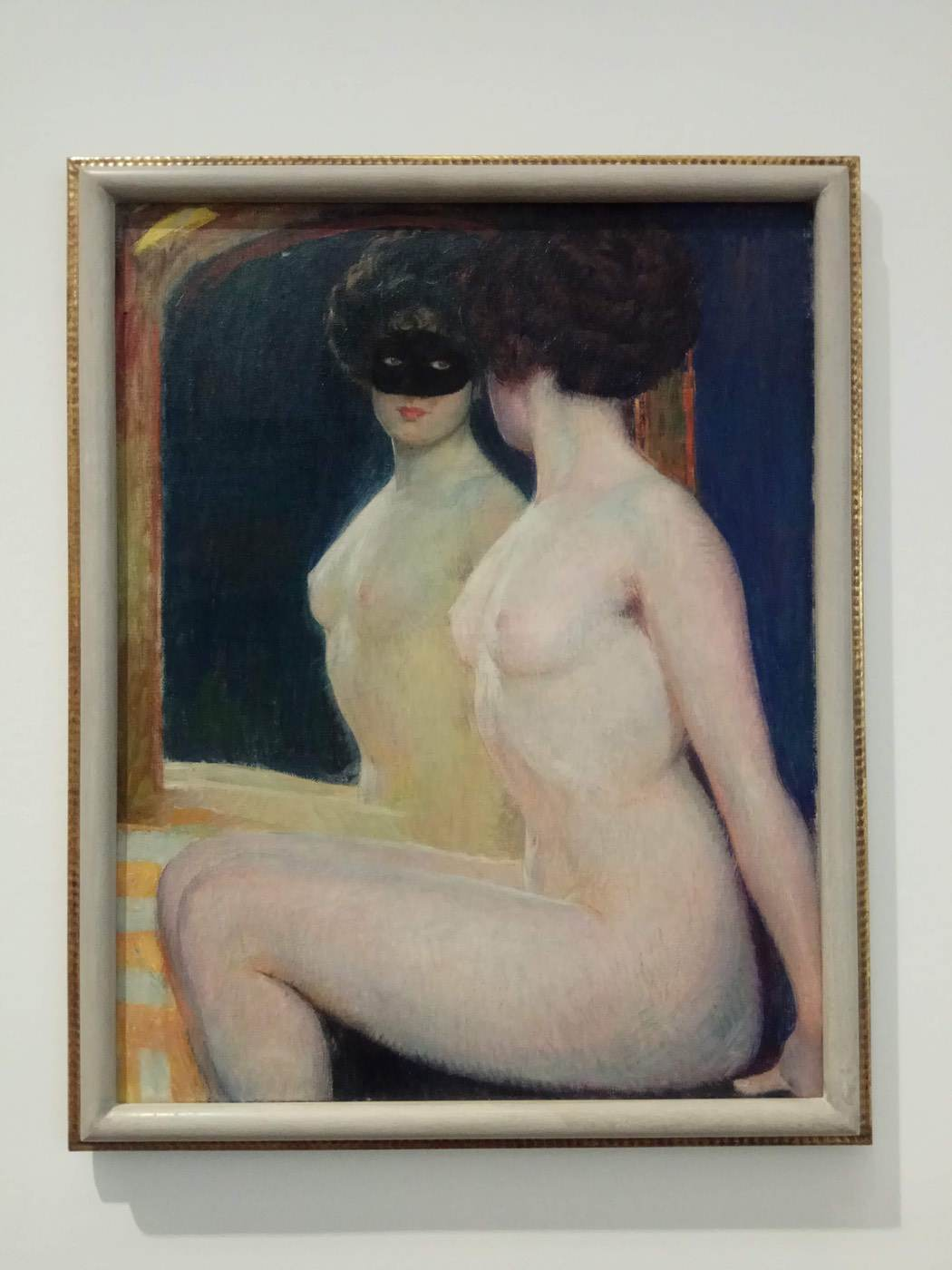 Female nude in front of mirror