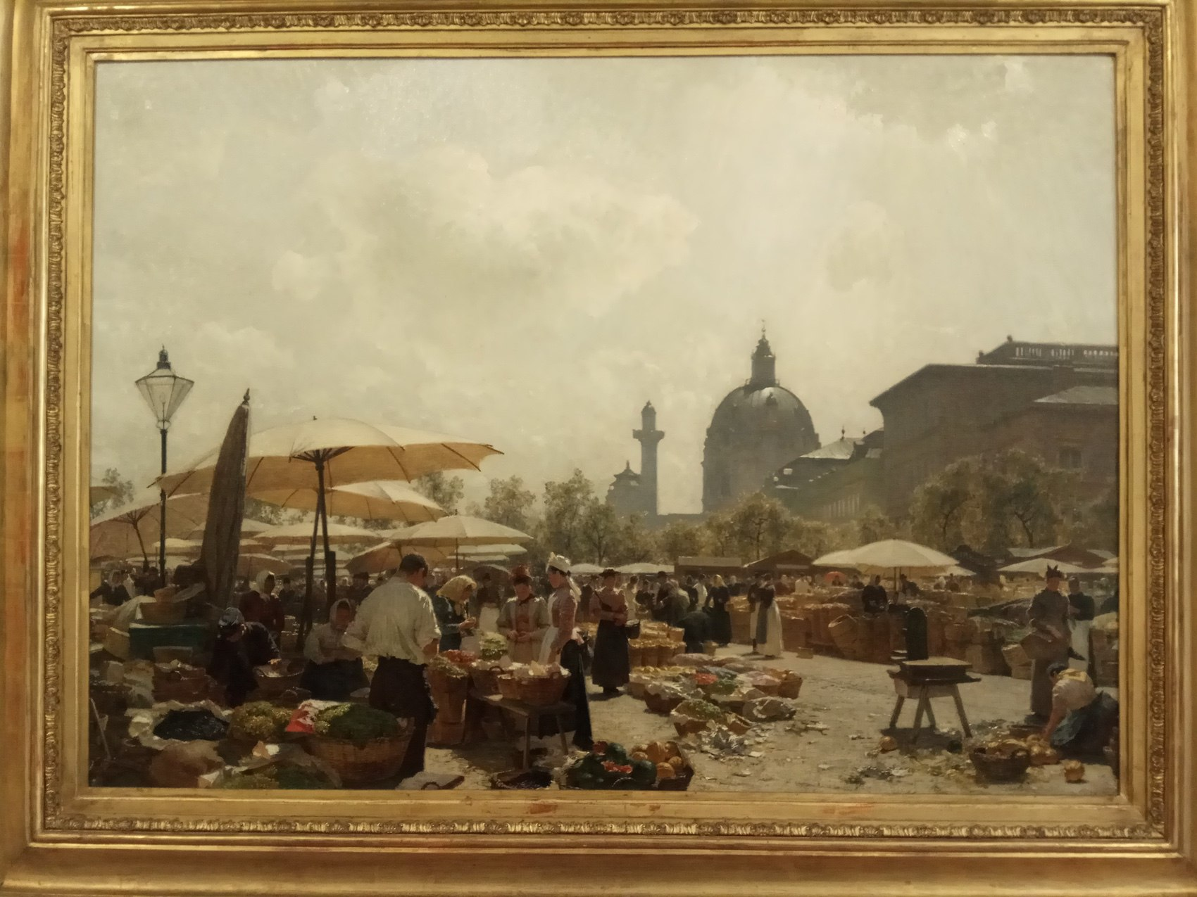 Carl Moll|The Naschmarkt in Vienna