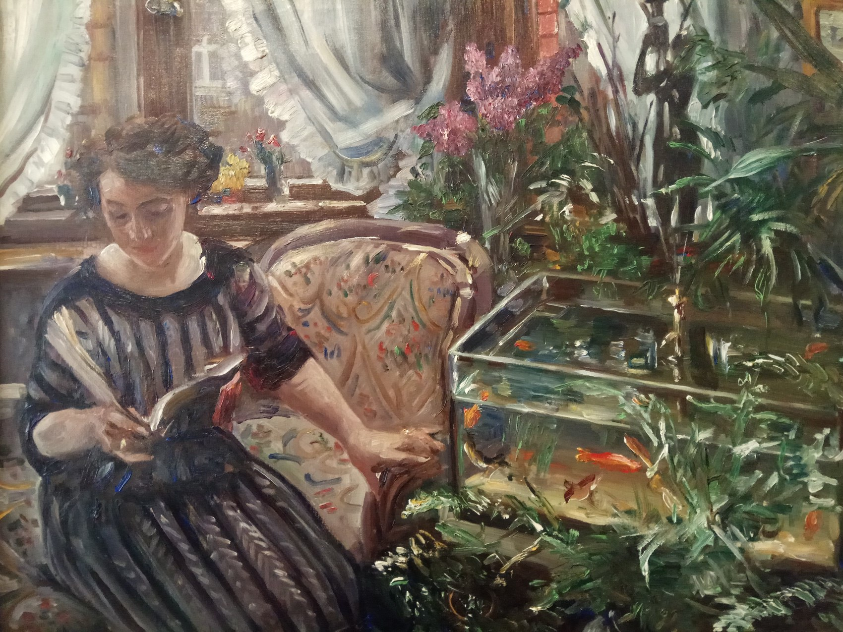 Lovis Corinth|Women by the Goldfish Tank