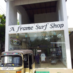 "Surf shop ""A frame"" at Hikkadua"