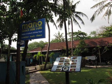 バリ島グルメ: スミニャックビーチにあるお手頃レストラン MANO Beach Cafe