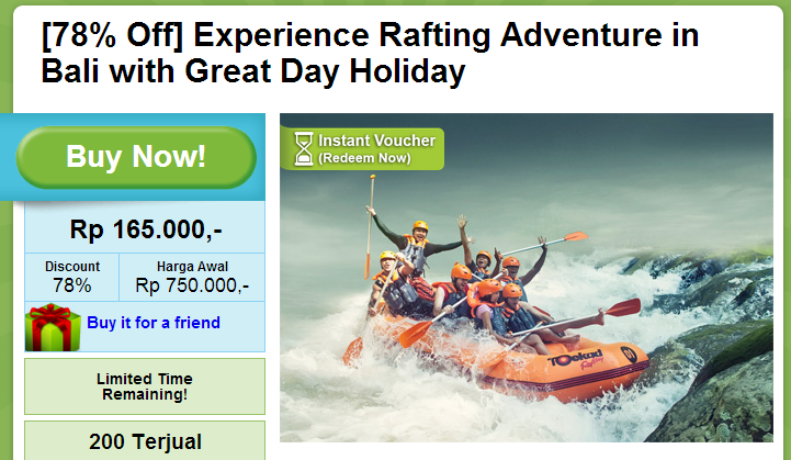 78  Off  Experience Rafting Adventure in Bali with Great Day Holiday