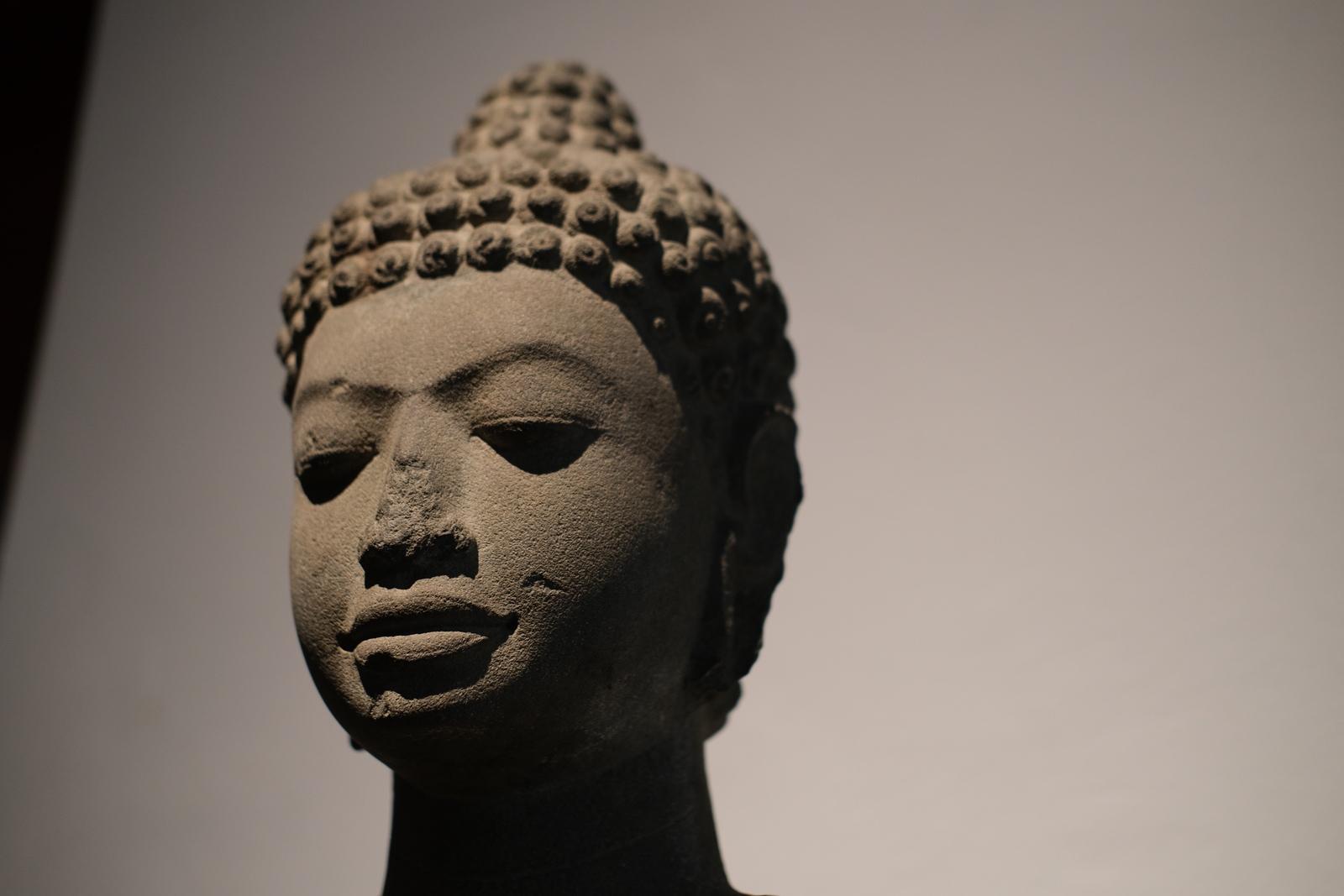 Standing Buddha head