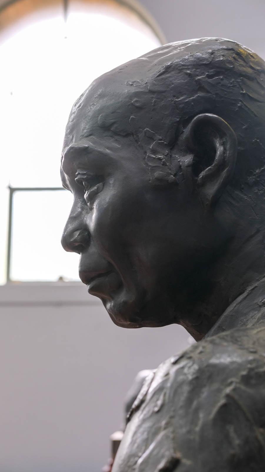 《北條虎吉像》1909年 横顔