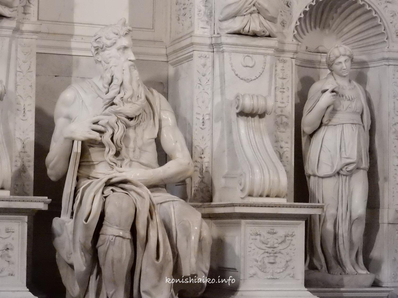 ミケランジェロのモーセ像