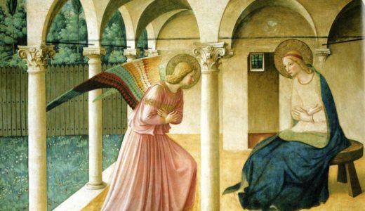 『受胎告知』フラ・アンジェリコ  1440年 を解説