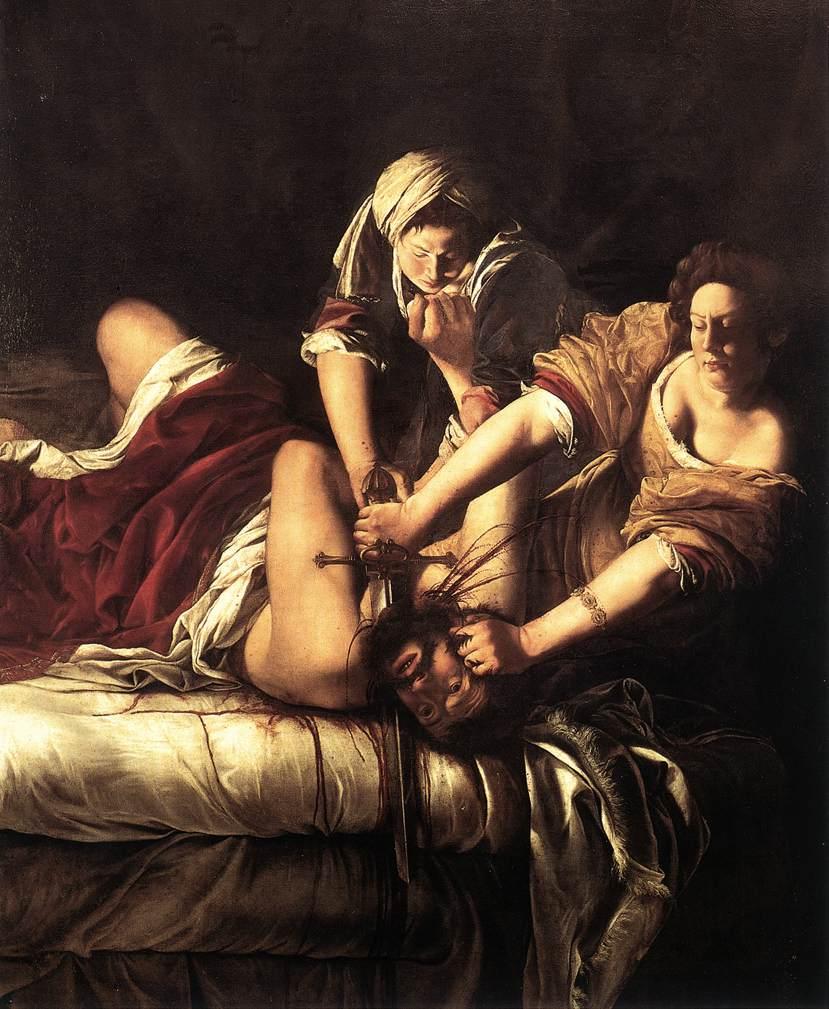 アルテミジアの「ホロフェルネスの首を斬るユディト」