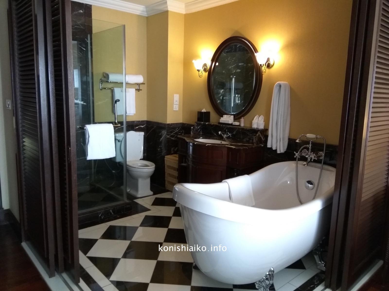 マジェスティックホテルのバスルーム