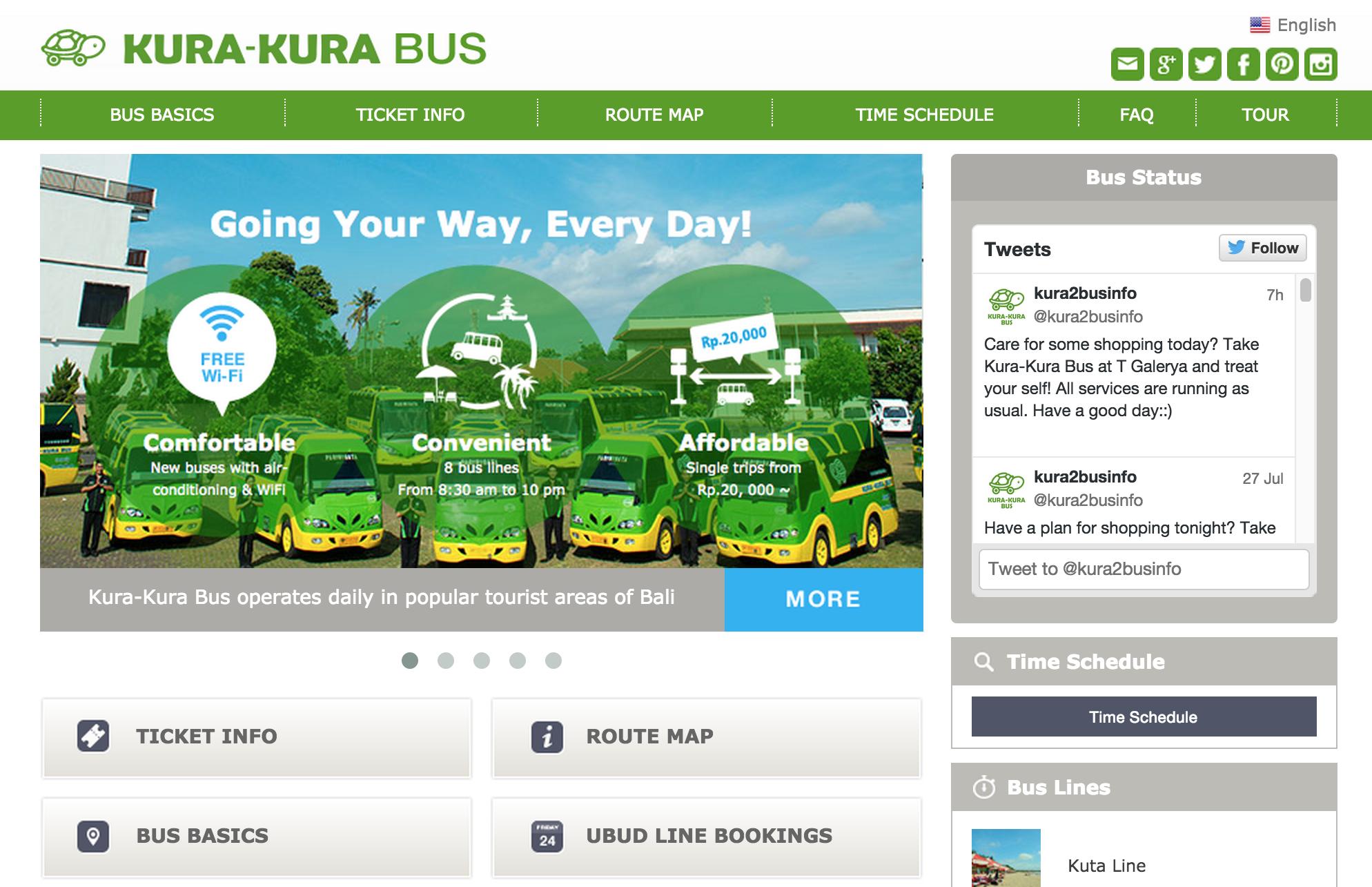 Kura Kura Bus|Bali Public Shuttle Bus