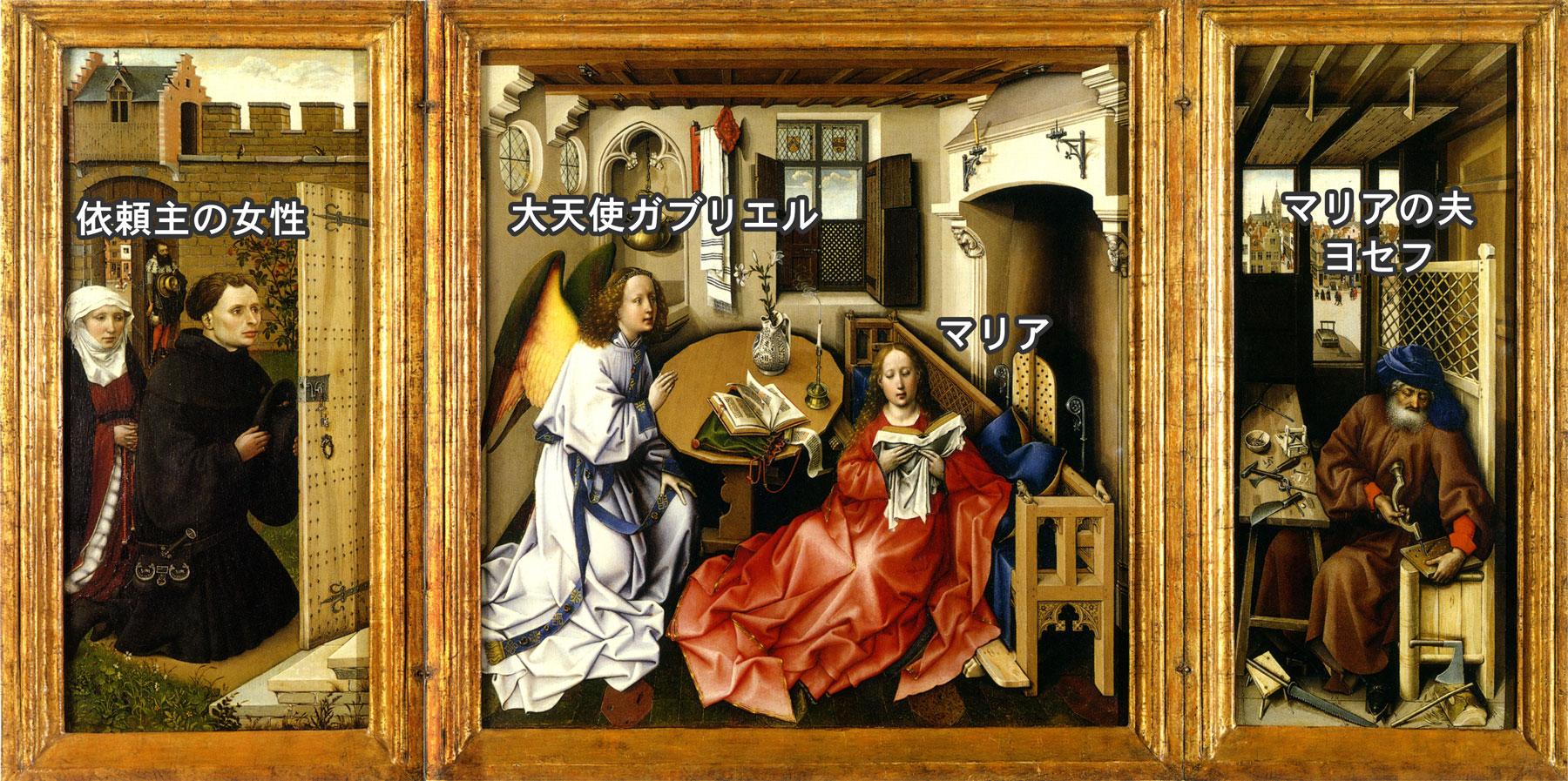 『メロードの祭壇画』の受胎告知