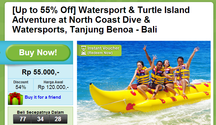 Up to 55  Off  Watersport   Turtle Island Adventure at North Coast Dive   Watersports  Tanjung Benoa   Bali