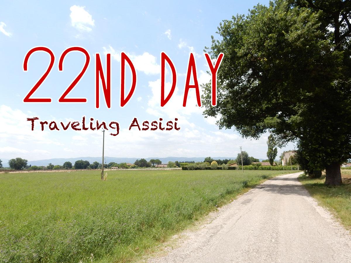 イタリア22日目・田舎道と隣町スペッロ