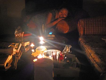 停電中の過ごし方