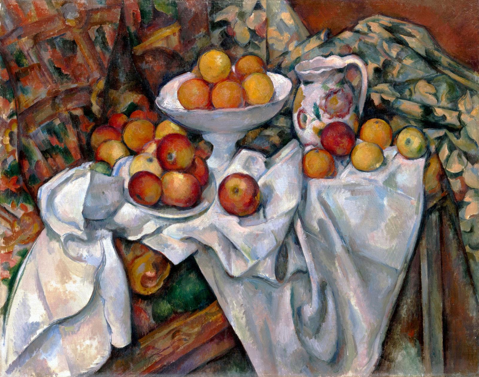 セザンヌ「リンゴとオレンジ(Pommes et oranges)」