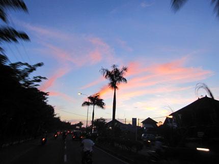 2010年6月11日ジンバランの夕焼け