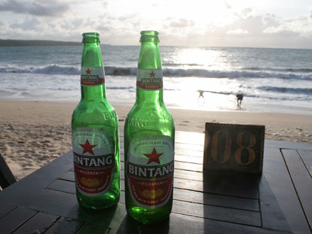 ジンバランビーチ夕暮れ