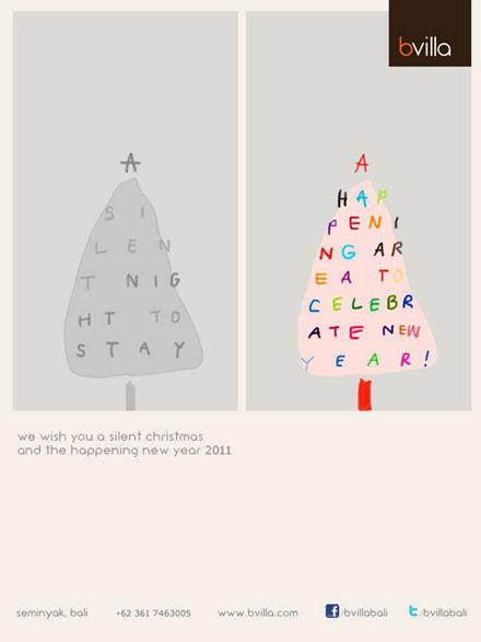 クリスマスカード・bvilla