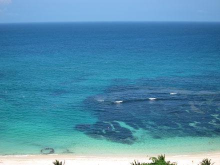 バリ島ニッコー前の海