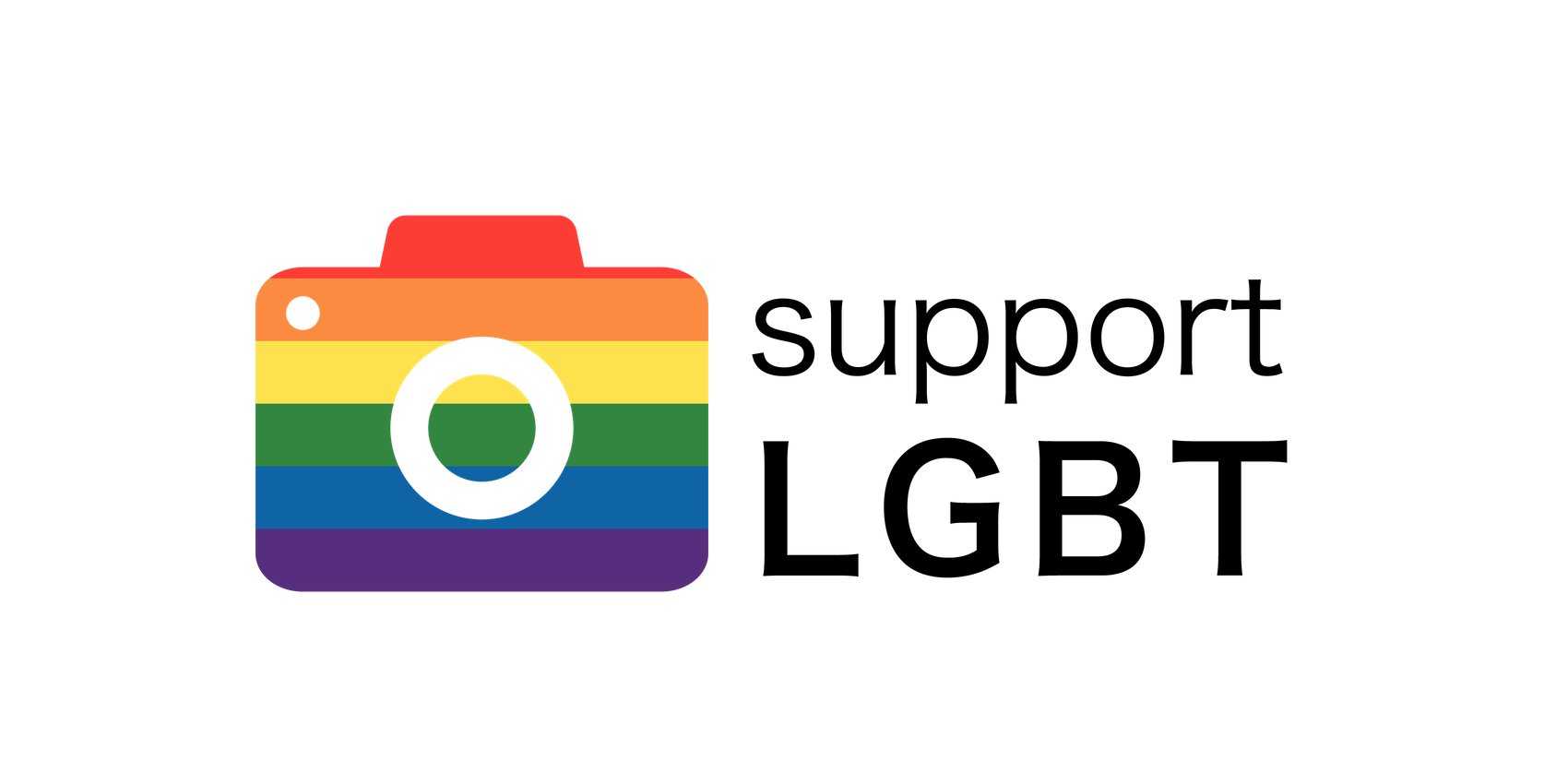 support LGBT free logo
