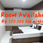 Room rental Rp.150,000 / night at heart of kuta