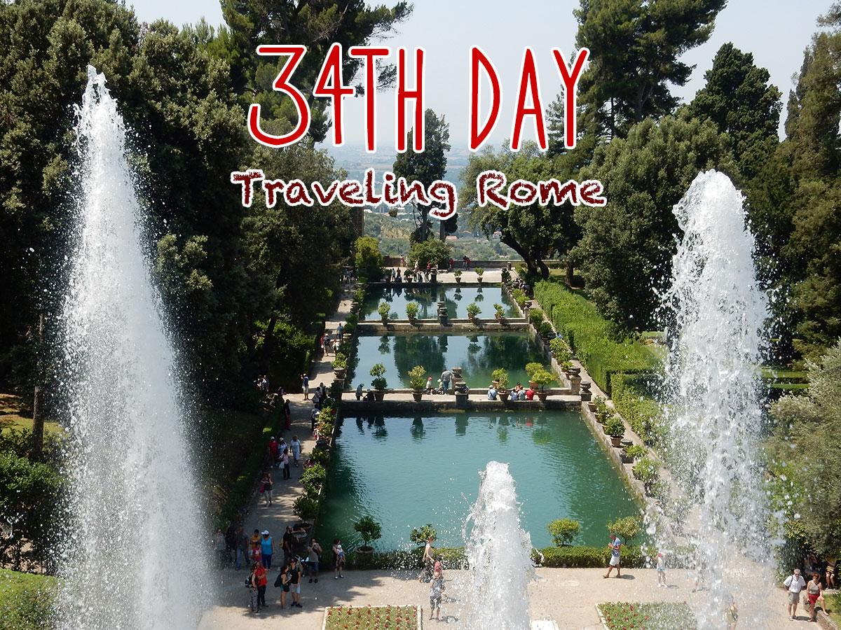 イタリア34日目・最後の観光DAY テヴォリのヴィラ・デステへ